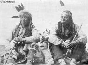Nordamerikanische Indiander mit Friedenspfeife